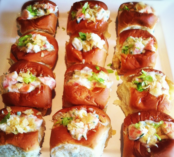 My mini Shrimp Rolls! King's Hawaiian perfect bread for this recipe ...