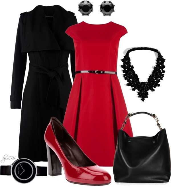 """""""Black & Red"""" by fantasy-closet ❤ liked on Polyvore"""