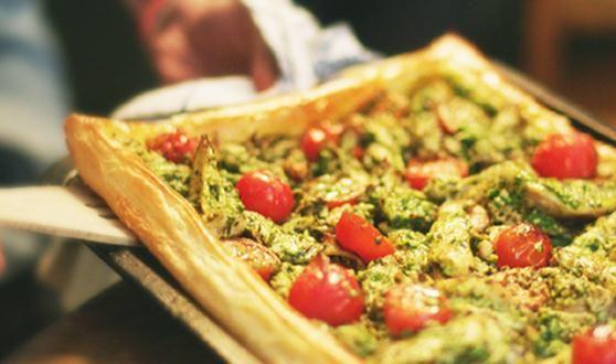 Easy Chicken & Pesto Tart | quiche/savoury tarts-pies | Pinterest