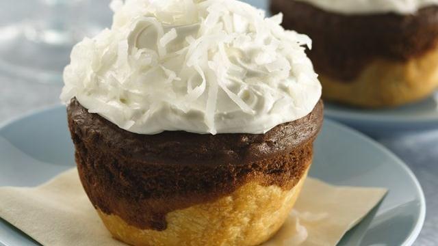 Chocolate-Coconut Jumbo Pie Cupcakes - refrigerated pie crusts, boxed ...