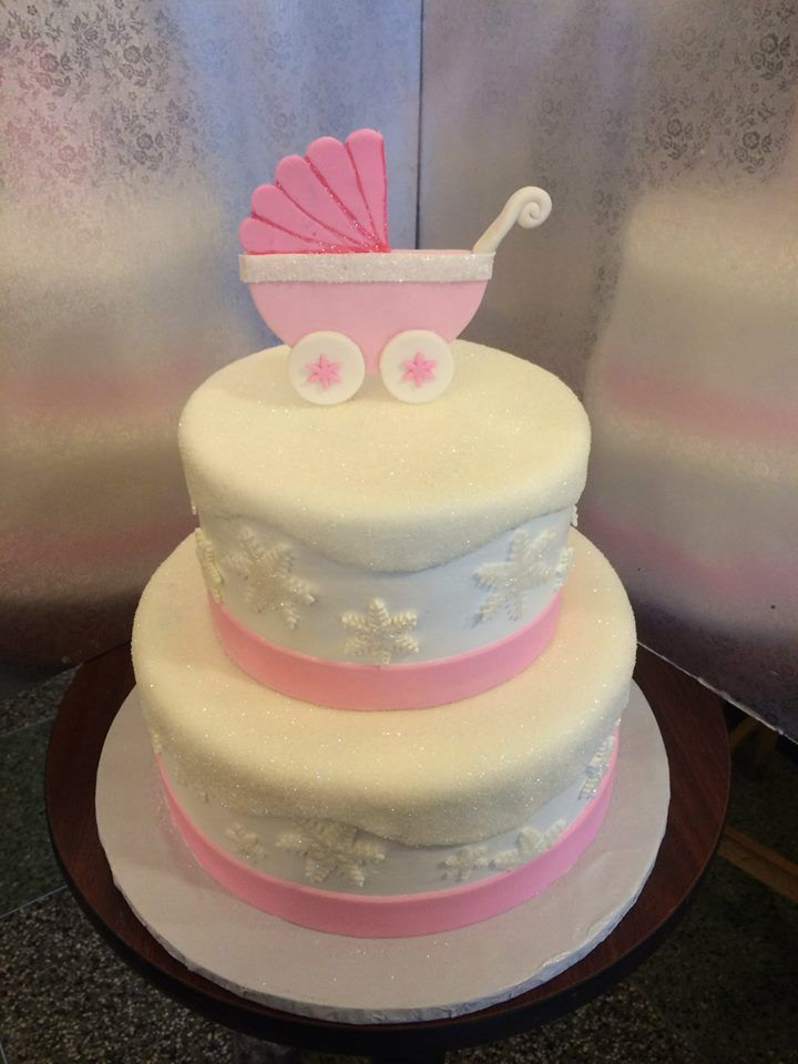 winter wonderland princess ! Baby Shower Cakes by Conti's Bronx NY