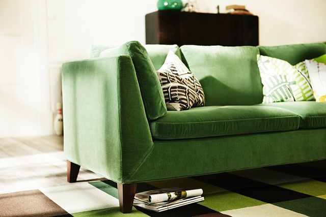 Ikea Stockholm Green Velvet Sofa For The Home Pinterest
