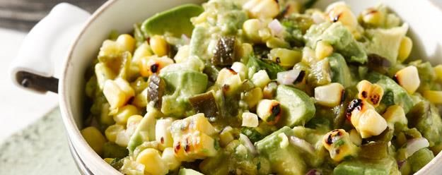 Grilled Corn and Poblano Guacamole - A recipe From the Kitchen of Rick ...