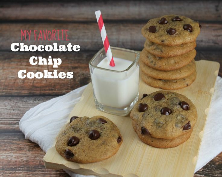 My favorite chocolate chip cookie recipe -http://lilmisscakes.com/2013 ...