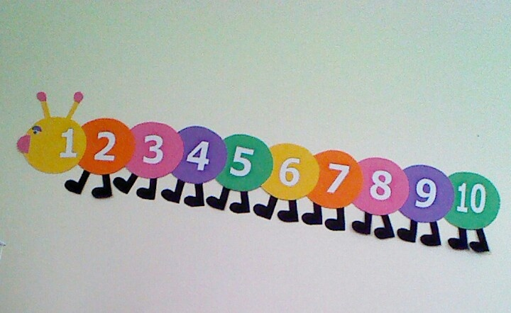 counting bug- print numbers, cut out and mod podge onto circles.
