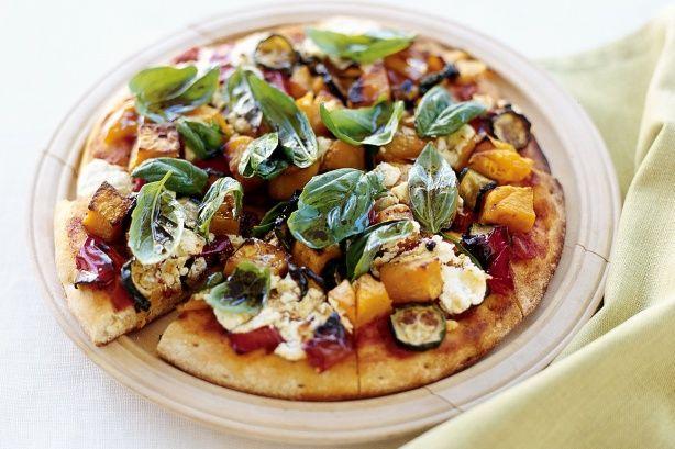 Roasted vegetable & feta pizza | All Things Pizza | Pinterest