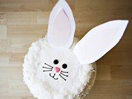 Blogger Bree Hester of a href=http://www.bakedbree.comBaked Bree/a shares a favorite recipe Bunny Cake with Fluffy Coconut Frosting. Cut the cake and discover a surprise inside