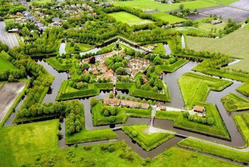 Fort Bourtange, village of Bourtange, Groningen,Netherlands