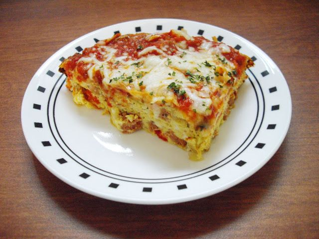 Roasted Red Pepper and Sausage Frittata