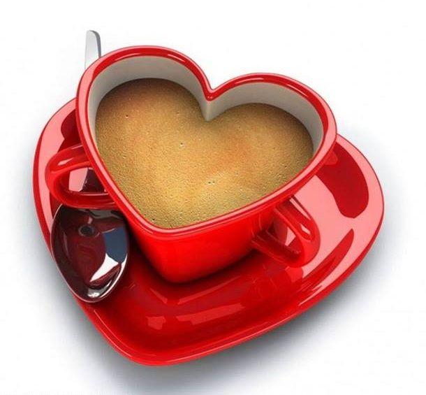 Xícara / chávena coração. #heart