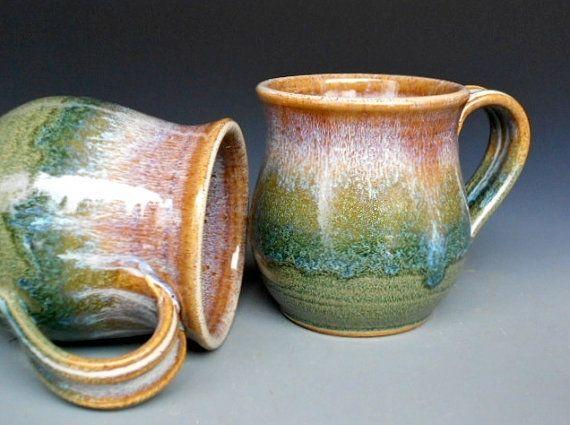 Pottery Mugs Beautiful Kitchen Pinterest
