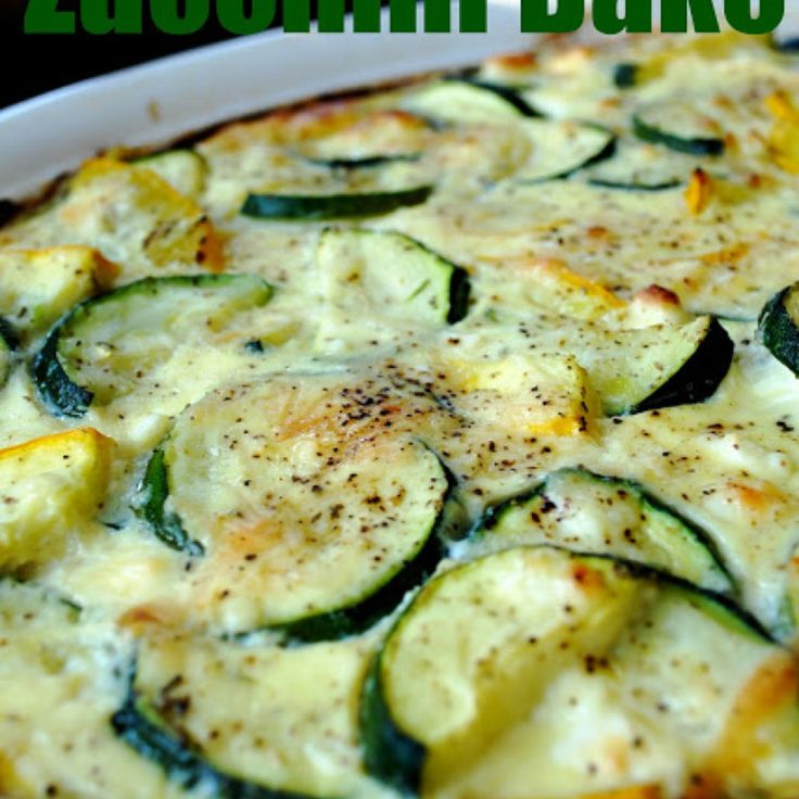 Feta & Parmesan Zucchini Bake | Casserole | Pinterest