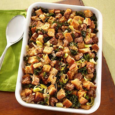 Sausage & Kale Sourdough Stuffing | I will EAT that | Pinterest