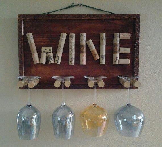 Wine Glass Holder Craft Ideas Pinterest