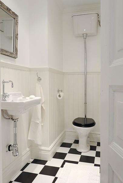 WC // style rétro  DECO // Salle de Bain & WC  Pinterest