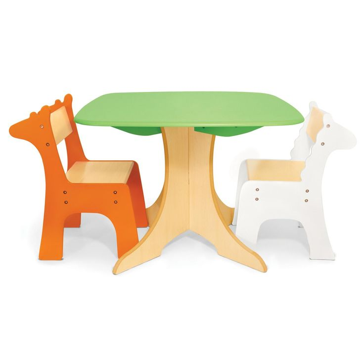 P Kolino Table And Chairs Kolino Safari Collection - Tree Table with Giraffe & Zebra Chairs ...
