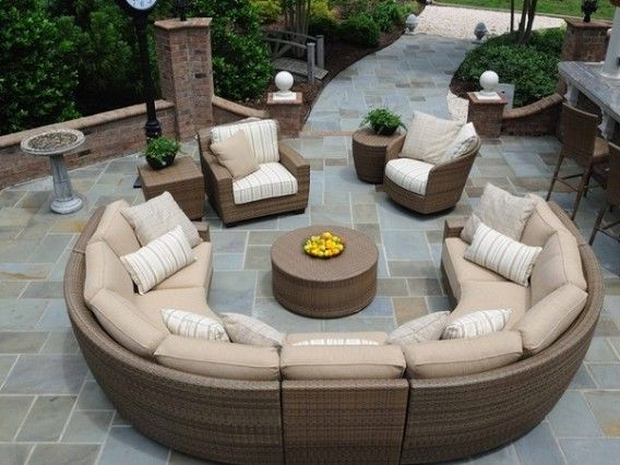 Round Outdoor Patio Sectional Furniture Garden Ideas