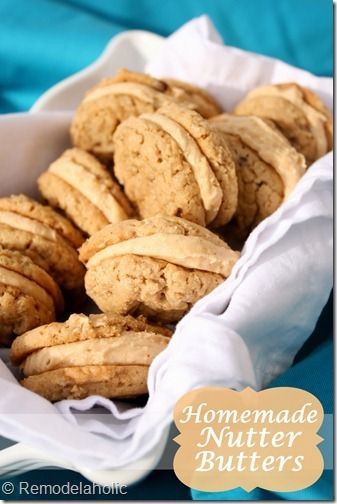 Homemade Nutter Butters by Remodelaholic | Sweets for my sweets | Pin ...