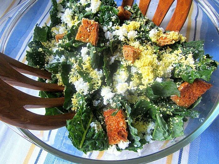 Caesar Kale Salad | SAVORY OR SWEET SALADS AND DRESSINGS | Pinterest