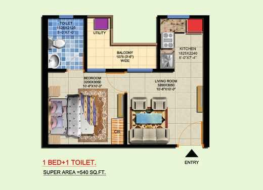 Studio Apartment Floorplan Small Rectangular Studio