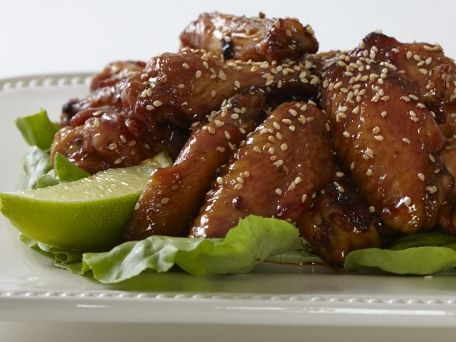 Asian Chile-Garlic Chicken Wings with Sesame
