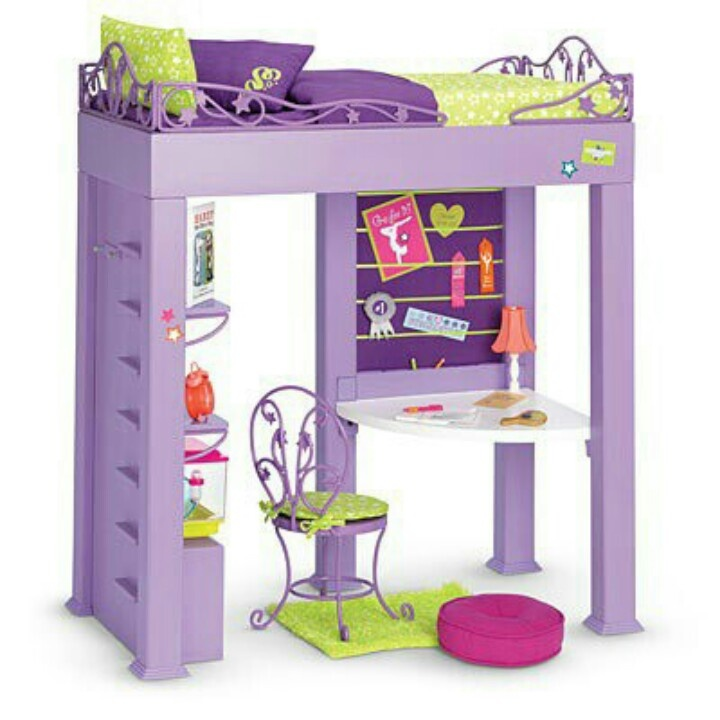 "Loft bed for dolls | American Girl or 18"" Doll Houses ..."