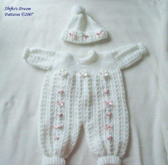 KNITTING PATTERN For Baby Pram Suit, Hat, Knitting Pattern 2 Sizes PDF 38 Dig...