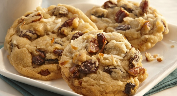 Chock full of coconut, pecans and raisins, these cookies will satisfy ...
