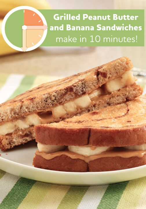 These Grilled Peanut Butter and Banana Sandwiches only take 10 minutes ...