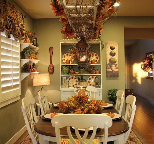 Pin by andrea markes on rustic home decor pinterest for Dining room ideas country style