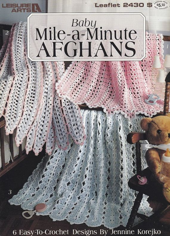 Crochet Patterns Mile A Minute : Mile-a-Minute Baby Afghan Crochet Patterns - 6 Easy Designs