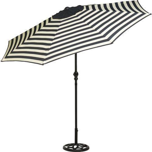 patio umbrella 9 foot round steel market tilt black and