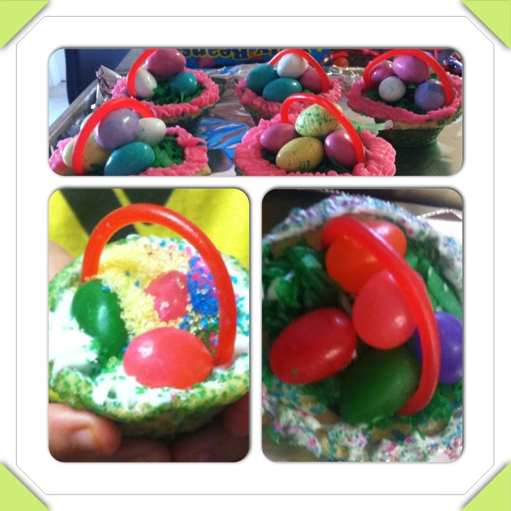 Easter Basket Cookies   Completed Projects   Pinterest