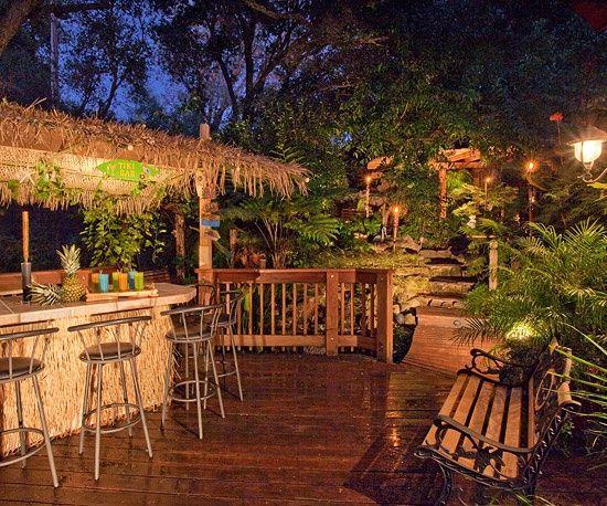 tiki tiki backyard hawaiiana pinterest