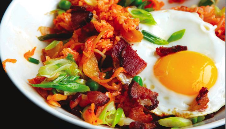 Eggs And Bacon With Spicy Fried Rice Recipe #FoodRepublic