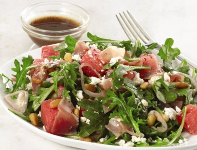 watermelon salad - this would be great salad for July 4 if you cut ...