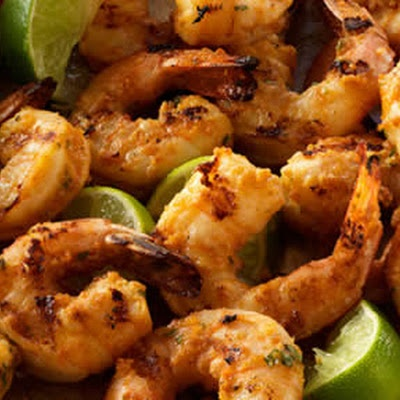 Garlic Shrimp with Peanut Lime Marinade | seafood | Pinterest