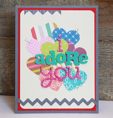I Adore You Card by Becky Williams