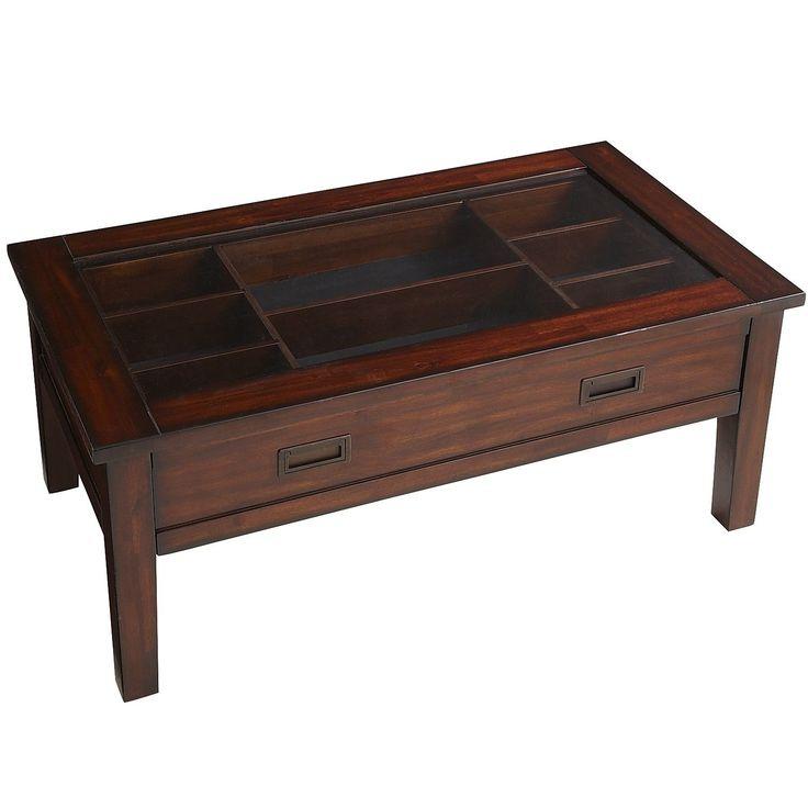Shadow Box Coffee Table Brown Mahogany Home Decor Furniture Ideas