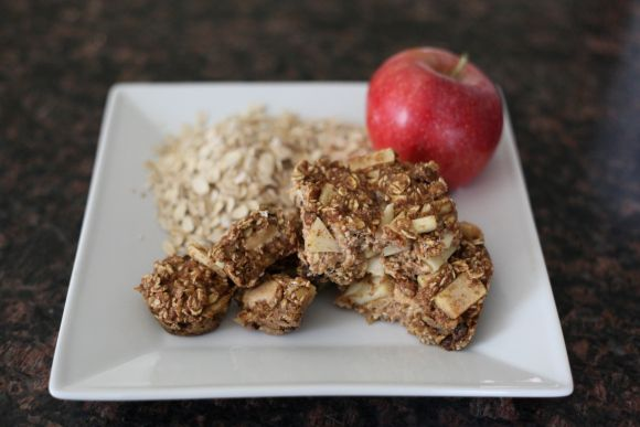 Apple peanut butter bars | Oatmeal recipies | Pinterest