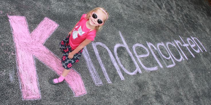 Kindergarten first day of school picture with sidewalk chalk see more