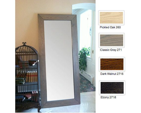 Wood full length mirror floor length mirror large wood for Wood floor length mirror