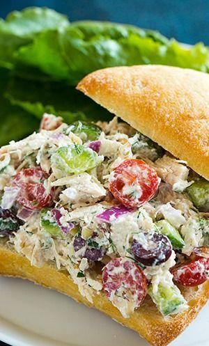 Greek Chicken Salad Sandwiches | Recipe