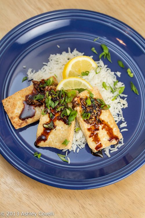 Pan-fried Tofu with Dark Sweet Soy Sauce- you can replace the honey ...
