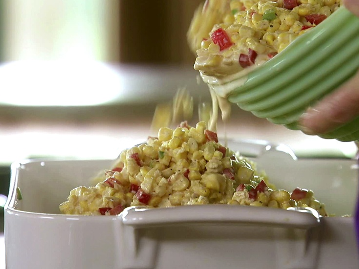Fresh Corn Casserole with Red Bell Peppers and Jalapenos from ...