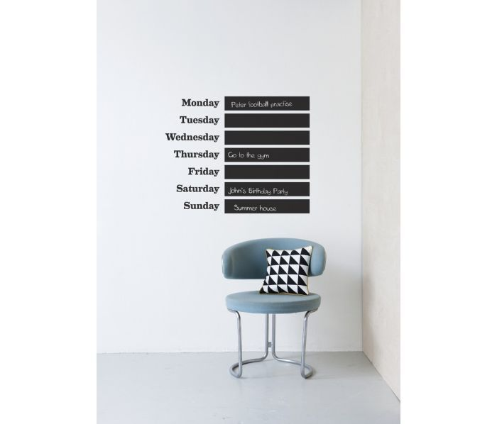 Muursticker / This week Wall Sticker . deens.nl