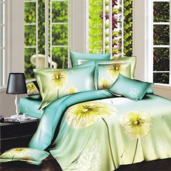 The yellow and blue flower bedding sets design in warm - Blue and yellow bedding sets ...