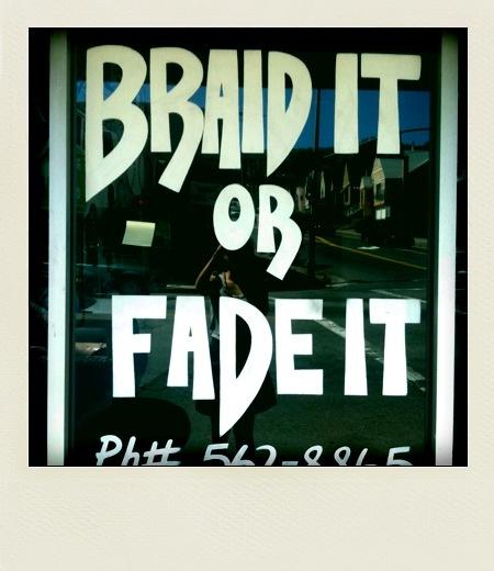 Barber Shop Oakland : Tha Barber Shop in Oakland: Braid It fo sho ;)