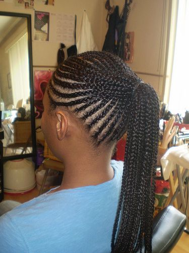 cornrow ponytail back shot... Lips & Eyes & Nails & Hair Pint...