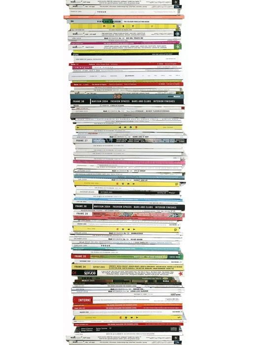Magazine Stacks wallpaper by Tracy Kendall